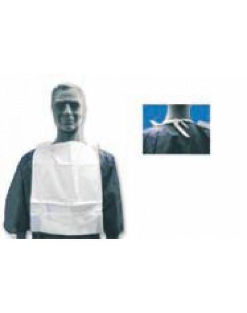 Babero Desechable Celulosa Plastificada. Con bolsillo. Pack-500 unidades