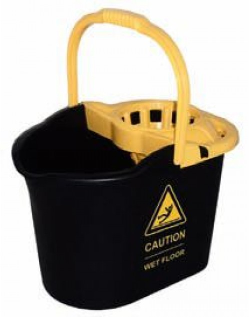 Cubo Para Fregona CAUTION con Escurridor