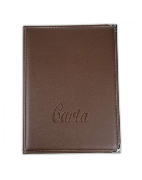Cartas Para Restaurantes Dina4 Semipiel x 3 Unidades