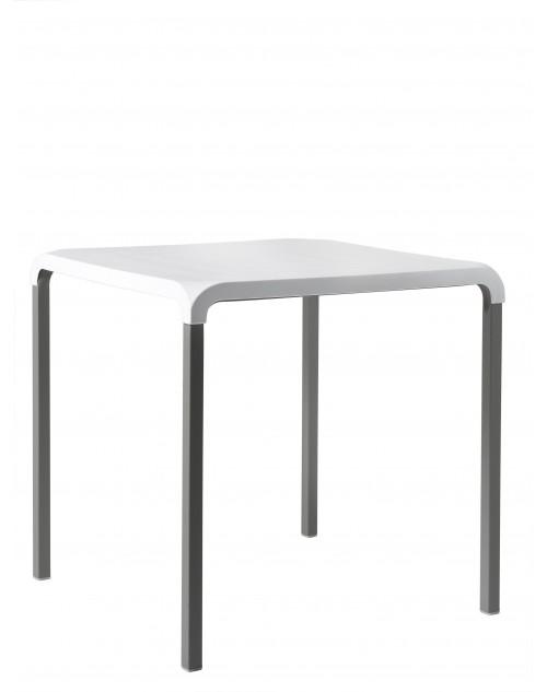 Mesa Anytime 72x72 cm. Polipropileno y Aluminio