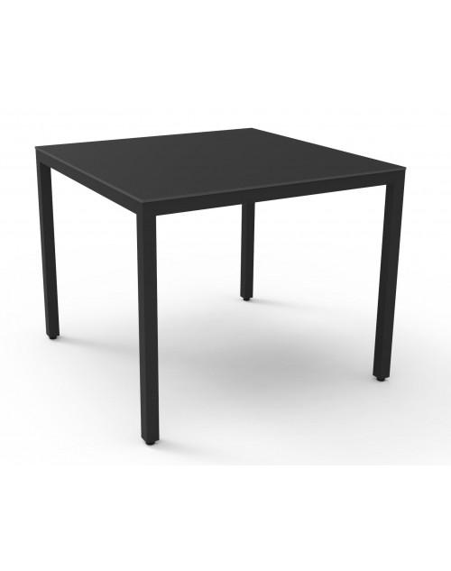 Mesa Barcino Compact Apilable Aluminio Anodizado 70x70 cm. Resol