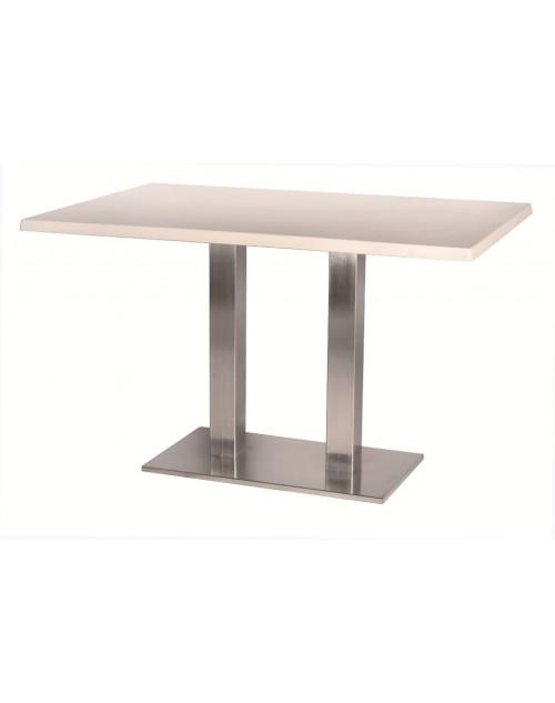 Mesa Miró Para Bares y Restaurantes Pie Doble Aluminio Mate