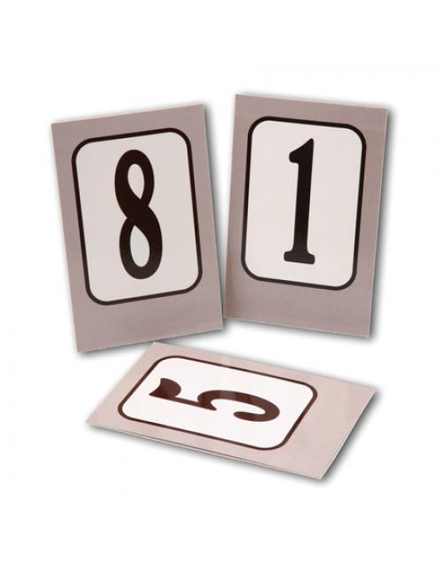 Numeración Mesas Bares y Restaurantes Plastificado x 25 Unidades