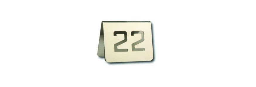 Numeraciones y Reservados para Mesas