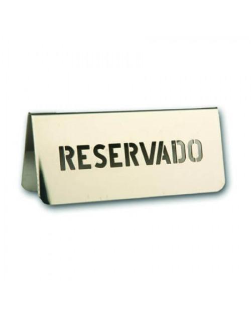 Reservado Para Mesas de Bares y Restaurantes Acero Inoxidable 18/8 Con Letras Perforadas