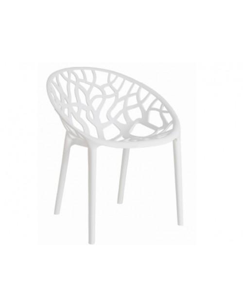 Silla Coral Apilable Color Blanco