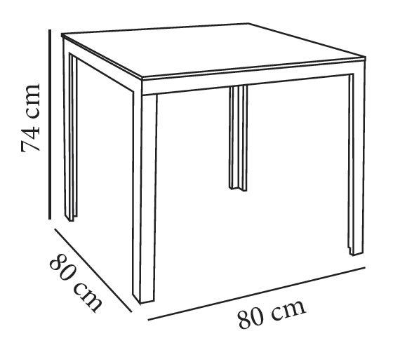 Mesa mamba 80 x 80 cm cristal y aluminio negro - Mesas de estudio a medida ...