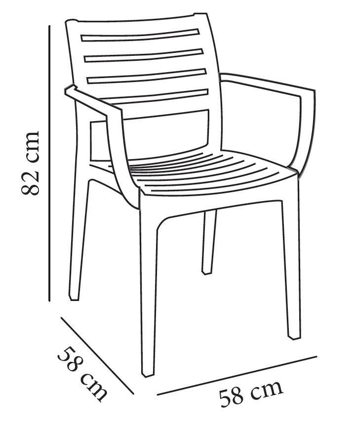 Sillas medidas medidas silla comedor piel lul cattelan for Medidas silla comedor