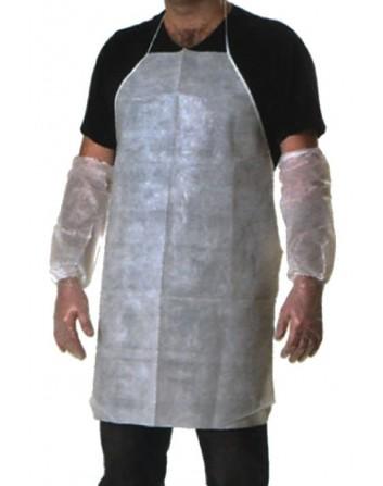Delantal PP Tejido sin tejer Plastificado c/ Cintas. Pack-200 unidades