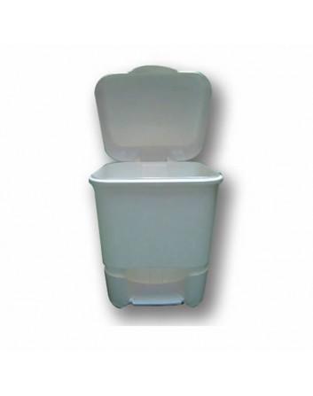 Cubo Papelera Baño 9 litros con Pedal. Tapa abatible