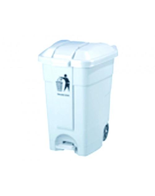 Contenedor 80 litros con Ruedas, tapa abatible y pedal
