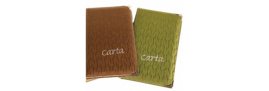 Cartas y Porta menús para Restaurantes Bares y Cafeterías
