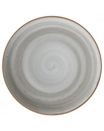 Plato llano redondo Humo para postre Artisan 17 cm x 24 unidades para bares y restaurantes Corona