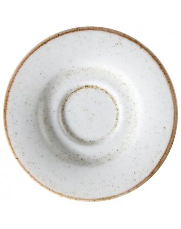 Plato llano redondo Blanco para café Artisan 13 cm x 24 unidades para bares y restaurantes Corona