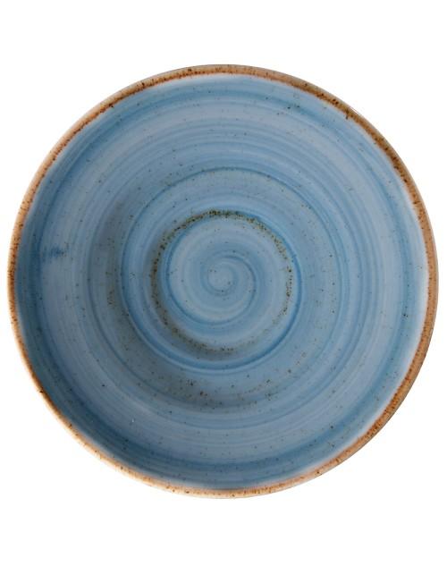 Plato llano redondo Azul para café Artisan 13 cm x 24 unidades para bares y restaurantes Corona