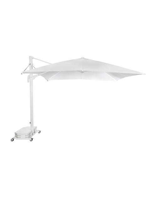 Parasol Lateral Profesional para Terrazas Flexo 3x3 m. Ezpeleta. Estructura Blanca