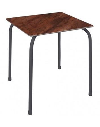 Mesa apilable Rodas para exteriores de bares y restaurantes Ezpeleta 70x70 cm. Compacto Fenólico