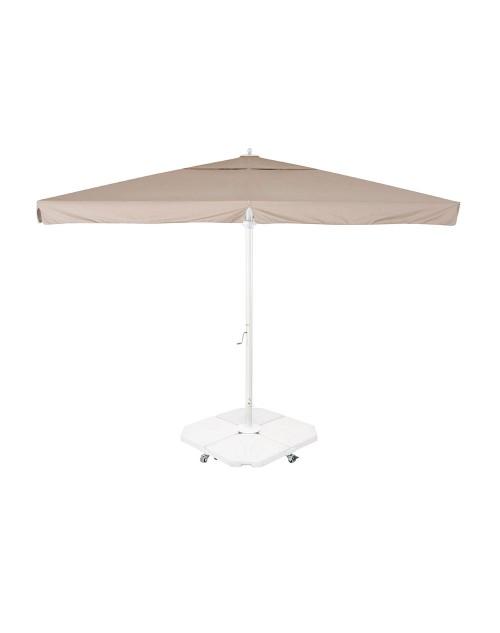 Parasol Profesional para Terrazas Río 4x4 m. Ezpeleta. Estructura blanca