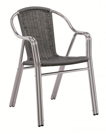 Sillón Aluminio Edge  PE Para Bares y Restaurantes
