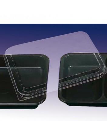 TAPA TRANSPARENTE PARA BANDEJAS MICROONDABLES 22,5x17,5 CM. (250 UNID.)