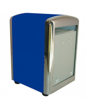 DISPENSADOR SERVILLETAS MINI SERVIS 10,5x9,7x14 CM. COLOR+INOX