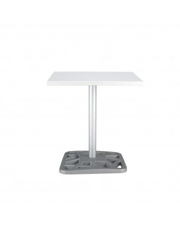 Mesa Net Pie Aluminio Pintado para Bares y Restaurantes
