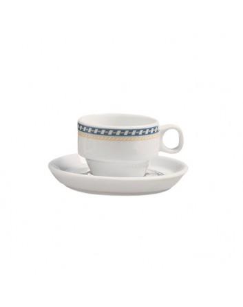 Plato para taza Moka Alboran 12 cm x 24 unidades para bares y restaurantes Porvasal