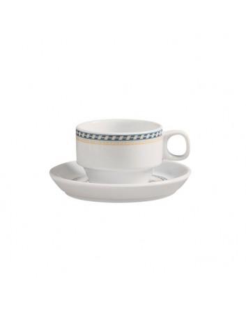 Plato para taza té Alboran 15 cm x 24 unidades para bares y restaurantes Porvasal