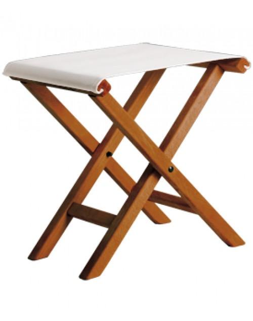 taburete menorqun auxiliar de madera plegable modelo x barniz brandy lona colores
