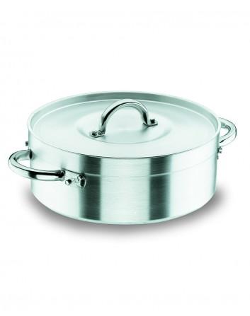Cacerola Chef Aluminio Profesional Para Hostelería Con Tapa Lacor