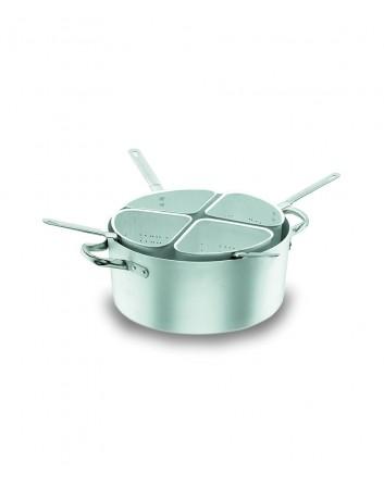 Colador 4 Sectores Chef Aluminio Profesional Con Cacerola y Tapa Lacor