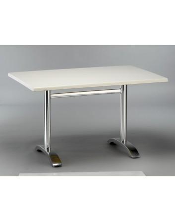 Mesa Max 120 Para Bares y Restaurantes Pie Doble Central Aluminio