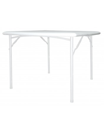 Mesa Space Plegable Polipropileno Blanco