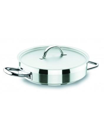 Paellera Chef Luxe Con Tapa Profesional Para Hostelería