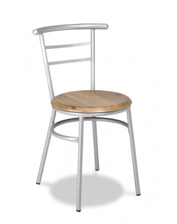 Silla Apilable para Bares y Restaurantes Tubo Acerado M.101
