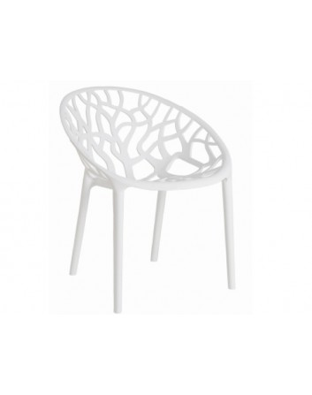 Silla Coral Apilable Color Blanco