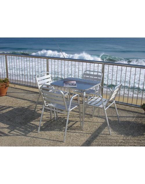 Sillón Aluminio Sea Apilable Para Terrazas Bares Y Restaurantes