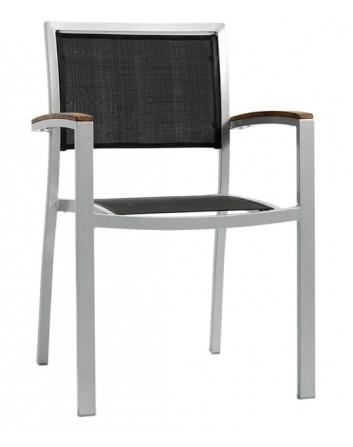 Sillón Monaco Apilable de Aluminio y Textilene Para Terrazas Ezpeleta