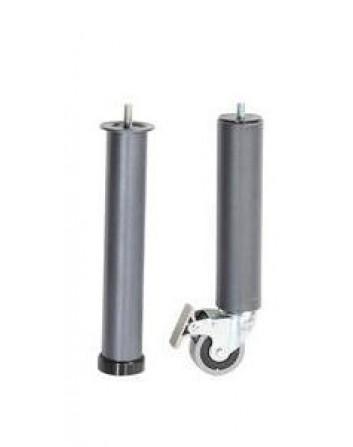 Juego de patas fijas con ruedas 60 mm (PATAS GERIA)