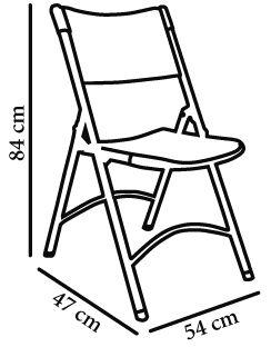 Silla plegable klaus gris claro especial convenciones x 4 unidades resol - Medidas silla ...